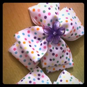 Hair bows made with love